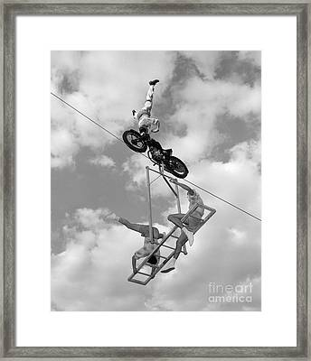 High-wire Act, C.1950-60s Framed Print by H. Armstrong Roberts/ClassicStock