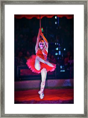High Wire In Red Framed Print