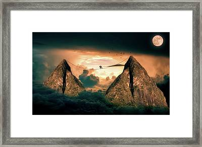 High Wire My Moonlight Framed Print by Twilight Zone
