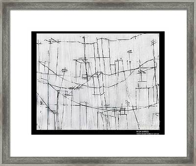 High Wires Framed Print by Pamela Canzano