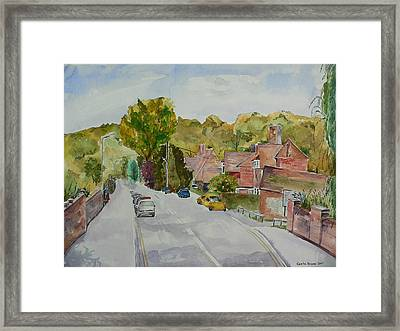 Framed Print featuring the painting High Wycombe by Geeta Biswas