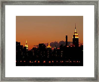 Higher And Higher Framed Print by Kendall Eutemey