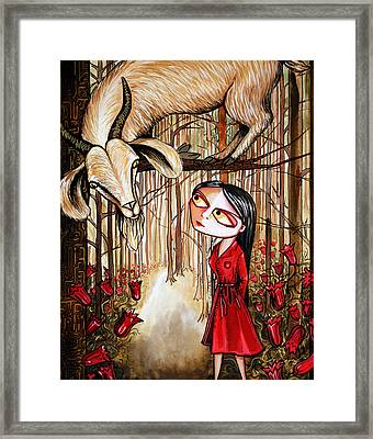 Framed Print featuring the painting Higher Ground by Leanne WILKES