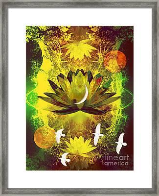 Higher Self Frequency Framed Print by Robert Ball