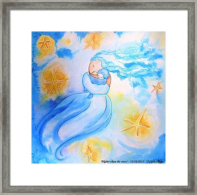 Higher Then The Stars Framed Print by Gioia Albano