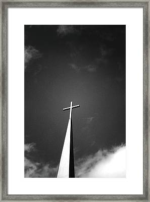 Higher To Heaven - Black And White Photography By Linda Woods Framed Print