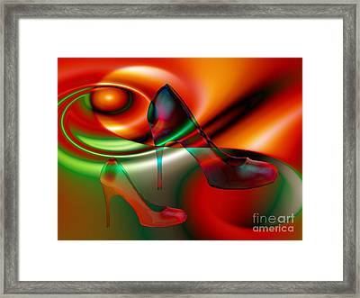 Highheels Red And Green Framed Print