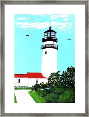 Highland - Cc - Lighthouse Painting Framed Print by Frederic Kohli