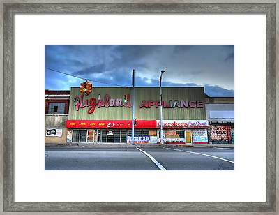 Highland Appliance Superstore Framed Print by Gordon Dean II