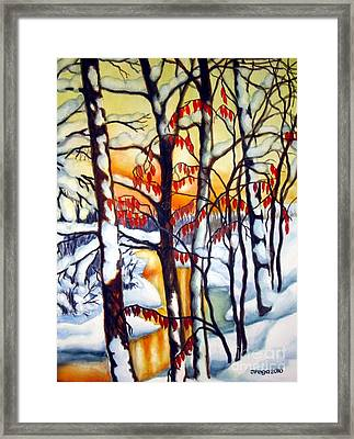 Highland Creek Sunset 1 Framed Print