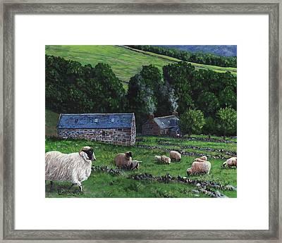 Highland Croft Framed Print