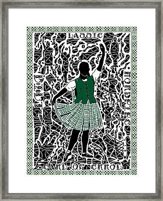 Framed Print featuring the digital art Highland Dancing by Darren Cannell