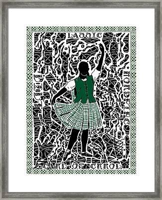 Highland Dancing Framed Print