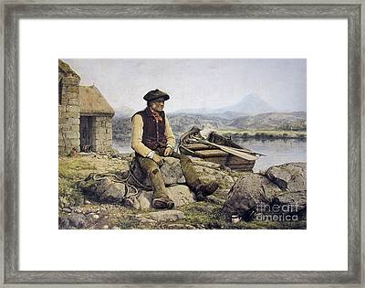 Highland Ferryman Framed Print by MotionAge Designs