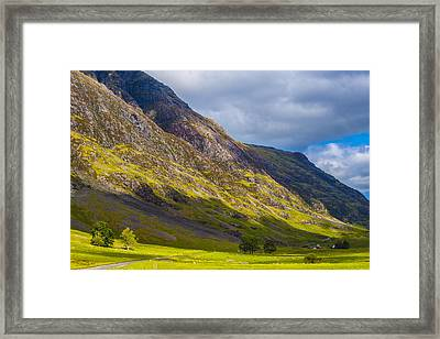 Framed Print featuring the photograph Highland Hillside by Steven Ainsworth
