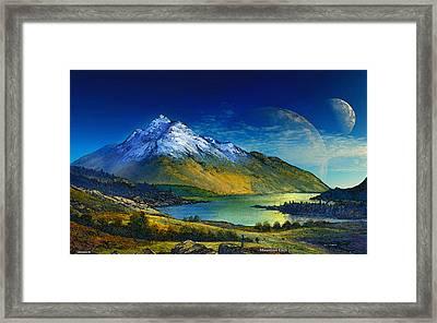 Highland Home Framed Print by David Jackson