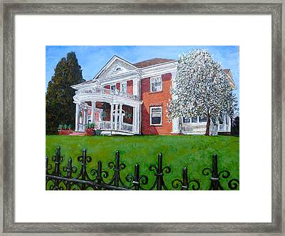 Framed Print featuring the painting Highland Homestead by Tom Roderick