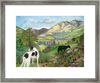 Highland Hounds Framed Print