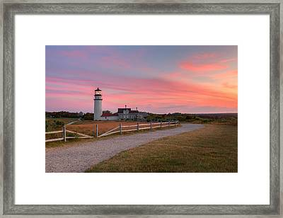 Highland Light Sunset Cape Cod  2015 Framed Print