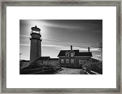 Highland Lighthouse Bw Framed Print