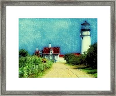 Highland Lighthouse II Framed Print by Gina Cormier