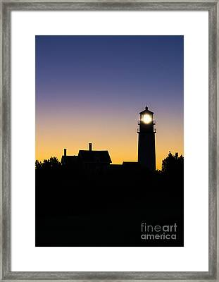 Highland Lighthouse Framed Print by John Greim