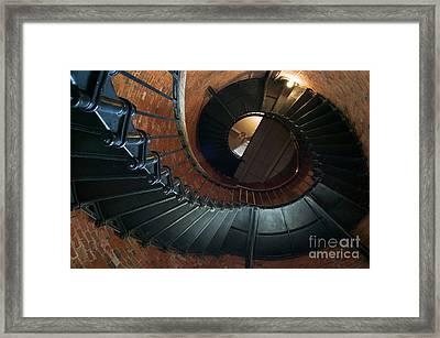 Highland Lighthouse Stairs Cape Cod Framed Print by Matt Suess