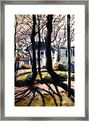 Highland On Stawtown Pike Mid January Framed And Matted Framed Print by Charlie Spear