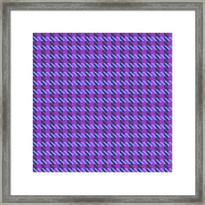 Highland Pink Houndstooth Pattern Framed Print