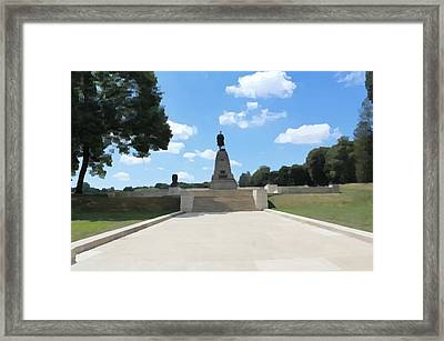 Framed Print featuring the photograph Highland Regiment Monument by JLowPhotos