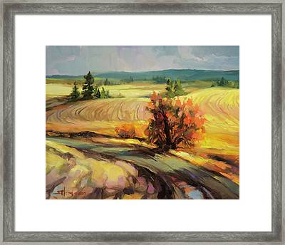 Framed Print featuring the painting Highland Road by Steve Henderson