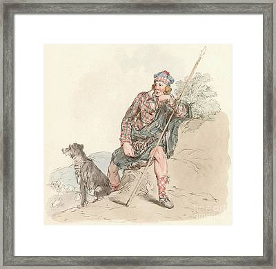 Highland Shepherd Framed Print