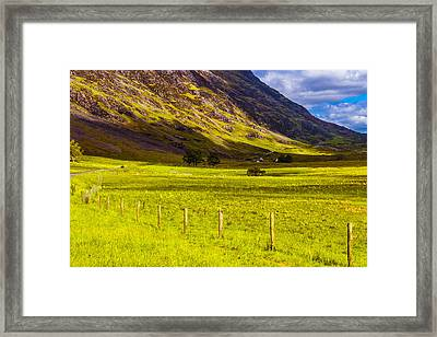 Framed Print featuring the photograph Highland Way I by Steven Ainsworth