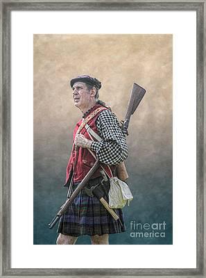Highlander Soldier Portrait  Framed Print