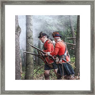 Highlanders Forward Framed Print by Randy Steele