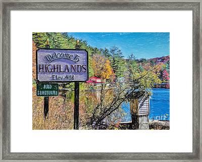 Highlands North Carolina Framed Print by Janice Rae Pariza