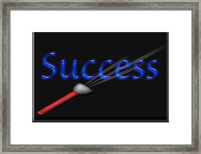 Highlight Success Framed Print