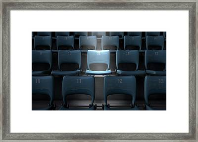 Highlighted Stadium Seat Framed Print