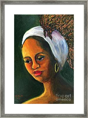 Highlights In Yellow-women Of Color Series Framed Print by Marlene Book