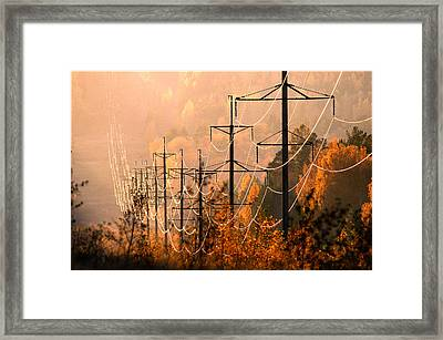 Framed Print featuring the photograph highline shining in the soft light of the evening Sun by Vladimir Kholostykh