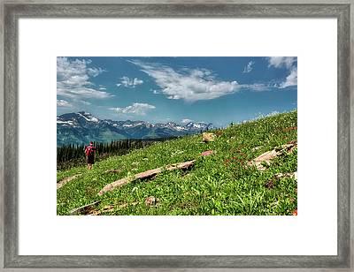 Highline Trail Adventure Framed Print