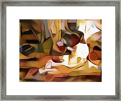 Highly Sensitive Abstract Realism Framed Print