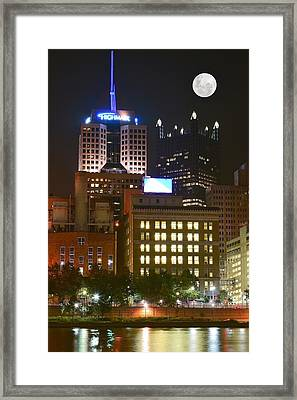 Highmark In Downtown Pittsburgh Framed Print by Frozen in Time Fine Art Photography