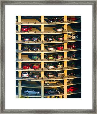 Highrise Carpark Framed Print