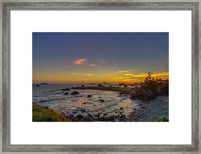 Highway 101 California Sunset Framed Print by Scott McGuire