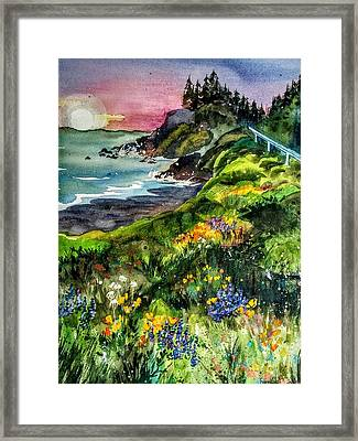 Highway  101 North Framed Print