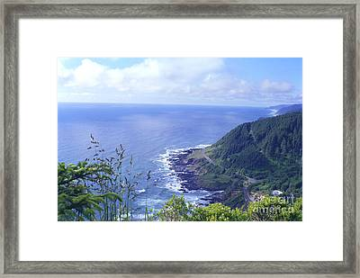 Highway 101 Oregon Framed Print