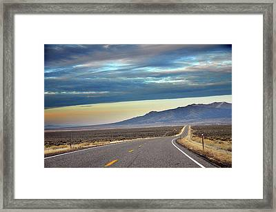 Highway 130 To Minersville Framed Print by Utah-based Photographer Ryan Houston