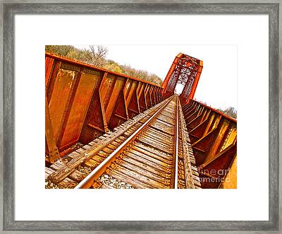 Highway 21 Runs Both Ways Framed Print by Chuck Taylor