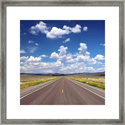 Highway 50 Through Nevada Framed Print
